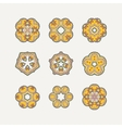 Set of ornate mandala symbols Mehndi lace vector image