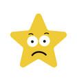 star cute character sad expression vector image