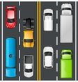 Traffic Top View vector image