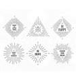 tribal boho frames starburst inspirational logo vector image