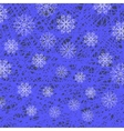 White Snowflake Pattern on Blue vector image