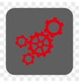 Mechanism Rounded Square Button vector image