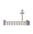 A view of airport vector image