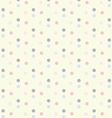 Baby Girl Pastel Polka Dots Seamless Pattern vector image