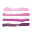 set of pink lilac rose violet watercolor stripes vector image