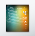 Cover Magazine abstract building design vector image