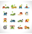 Car Insurance Icons Set vector image vector image