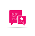 house for sale speech bubble vector image