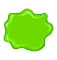 Best green slime sign vector image