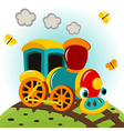 animated train vector image