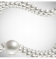 background pearls vector image