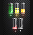 battery charging battery charging status vector image