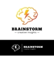 brain with lightning logo concept Creative vector image