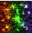 circle shiny glowing multicolored vector image