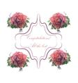 Elegant Happy Birthday card for banner flyer vector image