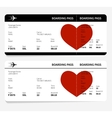 heart on ticket vector image