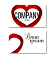 icon heart design element with business vector image