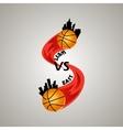 logo for a basketball team vector image