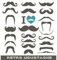 Moustaches set vector image