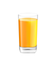 Orange Juice in Glass Isolated on White Background vector image
