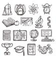 School education sketch icons vector image