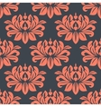Seamless red peony flowers pattern vector image