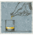 whiskey and glass vector image