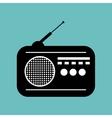 radio news black icon graphic vector image