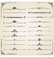 Vintage Set of Horizontal Elements vector image vector image