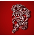 Mythological god s face Balinese tradition vector image