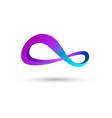 Combination of figure 8 abstract logo vector image