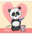 Artist Panda vector image