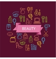Beauty Outline Concept vector image