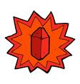 comic cartoon ruby vector image