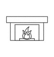 fireplace chimney flame indoor decoration vector image