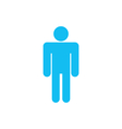 Flat icon of Male Isolated on White Background vector image