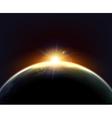 Globe Earth Sunlight Dark Background Poster vector image