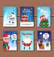 holiday celebration invitations design set of vector image