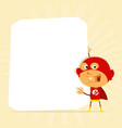 kid super hero sign vector image