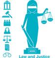 lady justice or iustitia concept vector image