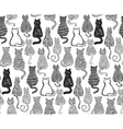 seamless pattern with hand draw textured vector image