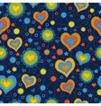 seamless pattern with the application of hearts vector image