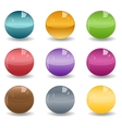 set of colored spheres or glass balls on white vector image