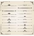 Vintage Set of Horizontal Elements vector image