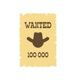 Vintage wanted poster icon vector image