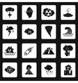 Natural disaster icons set simple style vector image