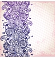 Purple ornament vector image vector image