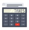 Tax Calculator Concept vector image vector image