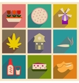 Concept of flat icons with long shadow Holland vector image