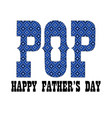 blue bandana pop fathers day vector image